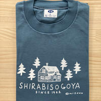 オリジナルTシャツ【小屋】ブルーグレー