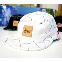 """MONOGRAM""WHITE 5 PANEL CAP (WHITE) made in japan (SH191021WHT)"