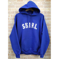 STITCH ARCH  LOGO PULL OVER HOODIE (ROYAL BLUE)(SH191313BLU)