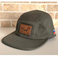 LEATHER PATCH COMFORT-5 CAP (OLIVE) made in japan(SH190102OLV)