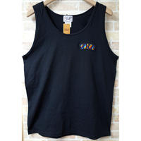 RAINBOW ARCH TANK-TOP  (BLACK)(SH181313BLK)
