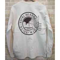 STAMP LOGO  L/S T-shirts   ( NATURAL) SH201501NAT