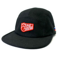 SQ PATCH MELTON  COMFORT-5 CAP (BLACK) made in japan (SH170103BLK)