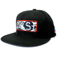 [YUSEI x SHIRL]コラボレーション  DENIM PATCH SNAPBACK CAP (BLACK)  (SH170212YSE)