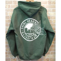 STAMP LOGO  PULL OVER HOODIE (OLIVE)(SH201301OLV)