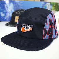 """NAVY-LEOPARD"" 5 PANEL CAP (NAVY) made in japan (SH190103NVY)"