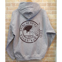STAMP LOGO  PULL OVER HOODIE (HEATHER GREY)(SH201301GRY)
