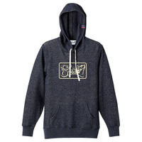 SHIRL BOX  LOGO SPRING HOODED   ( HEATHER NAVY)(SH171401NVY)