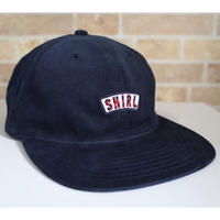 STRIPE ARCH SPRING CORDUROY STRAPBACK 6PANEL CAP (NAVY) made in japan (SH180713NVY)