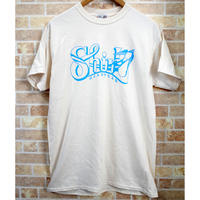 BIG SHIRL SS T-SHIRTS  (NATURALxLIGHT BLUE)(SH191202NAT)