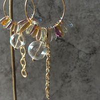 glass hoop pierce(mix