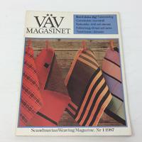 【古本】B175   VÄVMAGASINET NR1 1987 英語訳付   スウェーデンの手織り専門誌