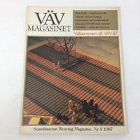 【古本】B164    VÄVMAGASINET NR3 1987 英語訳付属    スウェーデンの手織り専門誌
