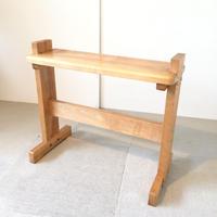 G075【USED】<東京手織>機織り用椅子 高さ変更可能 幅60cm