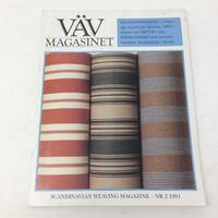 【古本】B182   VÄVMAGASINET NR2 1991 日本語訳付属 スウェーデンの手織り専門誌