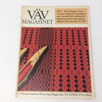 【古本】B163   VÄVMAGASINET NR4 1984 英語訳付属   スウェーデンの手織り専門誌