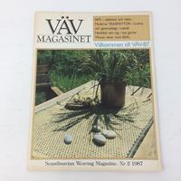 【古本】B172   VÄVMAGASINET NR2 1987 英語訳付属   スウェーデンの手織り専門誌