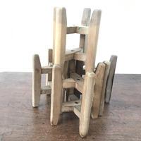 K094【USED】糸枠 高さ15.5cm 穴の直径9mm 4個セット