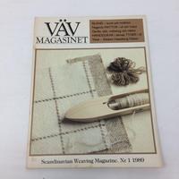 【古本】B169   VÄVMAGASINET NR1 1989 英語訳付属   スウェーデンの手織り専門誌