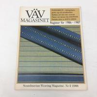 【古本】B167   VÄVMAGASINET NR2 1988 英語訳付  スウェーデンの手織り専門誌