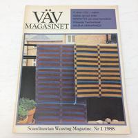 【古本】B184   VÄVMAGASINET NR1 1988 英語訳付属  スウェーデンの手織り専門誌