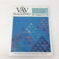 【古本】B156 VÄVMAGASINET NR11992 日本語訳付属 スウェーデンの手織り専門誌