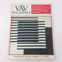【古本】B168   VÄVMAGASINET NR4 1987 英語訳付属 スウェーデンの手織り専門誌