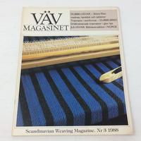 【古本】B176   VÄVMAGASINET NR3 1988 英語訳付属   スウェーデンの手織り専門誌