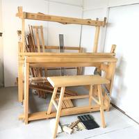 K081【USED】<TOIKA> トイカ フィンランド LISA 機織 筬・椅子付き 最大織幅120cm 踏み板8枚 8枚綜絖