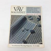 【古本】B157 VÄVMAGASINET NR3 1989 英語訳付属 スウェーデンの手織り専門誌