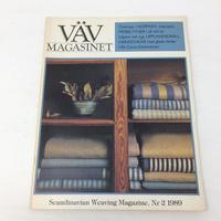 【古本】B171   VÄVMAGASINET NR2 1989 英語訳付属   スウェーデンの手織り専門誌