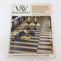 【古本】B166   VÄVMAGASINET NR4 1988 英語訳付   スウェーデンの手織り専門誌