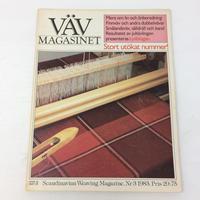 【古本】B162   VÄVMAGASINET NR3 1983 英語訳付 スウェーデンの手織り専門誌