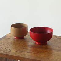小さな色拭き漆椀「お椀や うちだ」と小鉢「aisomo cosomo」のセット