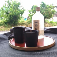 和紙貼りカップ