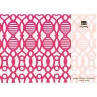 MINOK60 Printed envelope S Pink