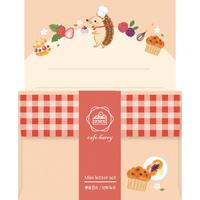 LT335 Forest cafe ミニレター cafe ハリー (02309)