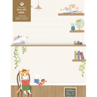 LLL328 Forest cafe L判レター ごろごろ book cafe (01104)
