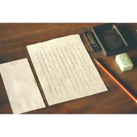 L039名入れ便箋 手漉き美濃和紙 桐箱入り