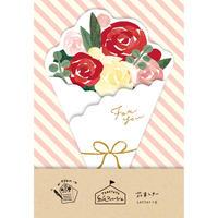 LT369紙マルシェ 花束レター バラ