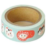 QMT14 和にゃんこ ますきんぐテープ かおネコ