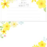 LLL341今日のお手紙レターセット 黄色いお花