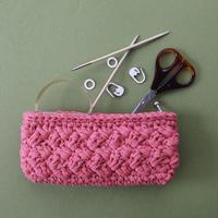 印刷版レシピ「あじろ編み風のポーチとミニバッグ」