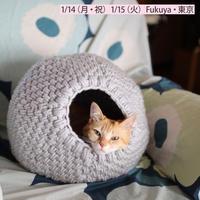 【終了】ワークショップ@東京・fukuya (1/14,15)「キャットドーム」お申し込み