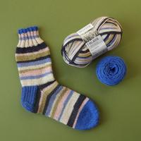 材料セット「フィンランドの糸で編むマルチカラーソックス」ライタ・マルチライタ