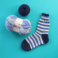【完売】材料セット「フィンランドの糸で編むマルチカラーソックス」限定カラー