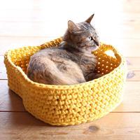 データ版レシピ「ねこ顔シルエットのバスケット -Cat face basket- 」
