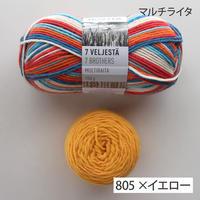 編み物キット「フィンランドの糸で編むマルチカラーソックス」ライタ・マルチライタ