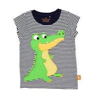 キッズ Tシャツ ワニ ネイビー 100%オーガニックコットン GOTS認定