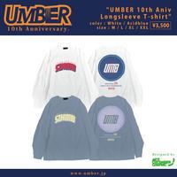 UMBER 10th Aniv L/S T-shirt (Acid blue)